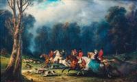 une chasse au cerf by françois gabriel guillaume lépaulle