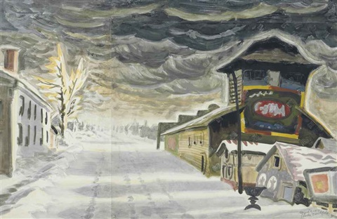 clearing after a snowstorm on joined sheets by charles ephraim burchfield
