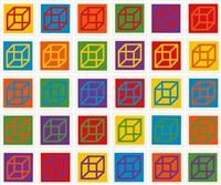 open cube in color on color (set of 30) by sol lewitt