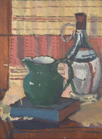 still life with green jug by roy de maistre
