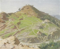 the castle, malaga by william nicholson