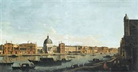 the grand canal, venice, with san simeone piccolo by francesco tironi