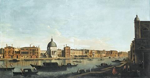 the grand canal venice with san simeone piccolo by francesco tironi