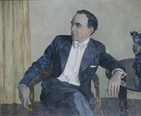 portrait of ernest milton by ethel gabain