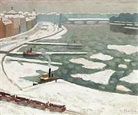 vinter, stockholms ström by hjalmar grahn