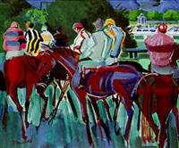 jockeys avant la course by jean mablord