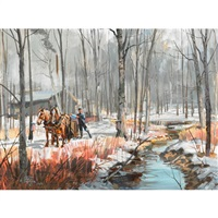 stream in the sugarbush by peter etril snyder
