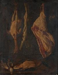 pièces de viande et volailles suspendues by italian school-northern (17)