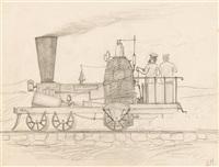 steam engine: the ben franklin by edward hopper