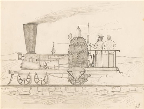 steam engine the ben franklin by edward hopper