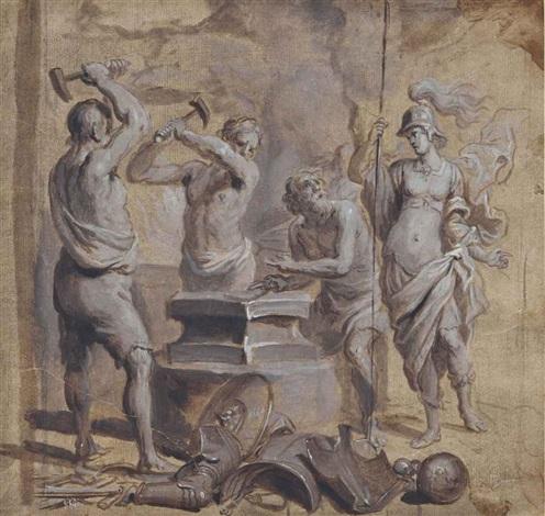 vénus dans la forge de vulcain by theodor van thulden