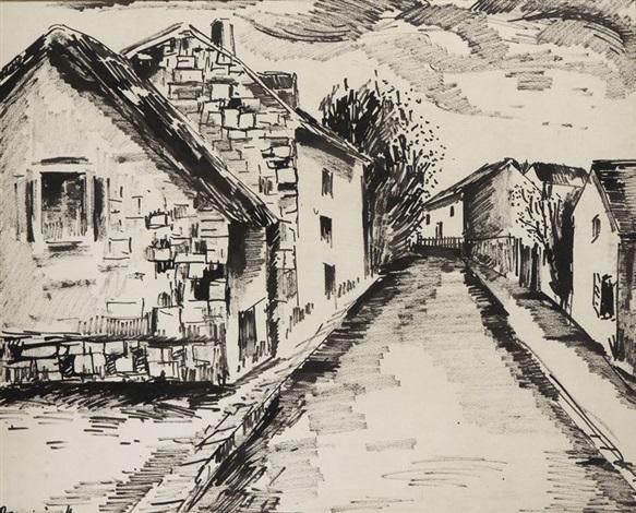 rue de village by maurice de vlaminck
