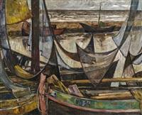 fischerboote by leopold hauer