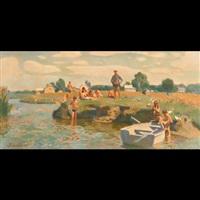 near the river by vladimir litvinienko