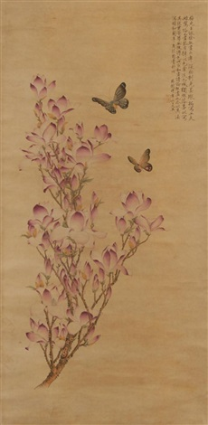 butterflies among tulips by anonymous chinese 19