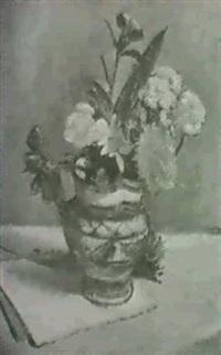stilleben mit wiesenblumen by karl baumgartner