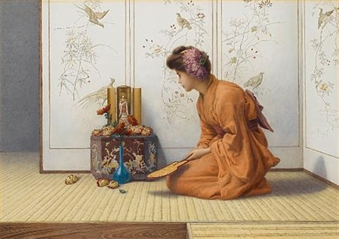 an offering of flowers by henry ryland