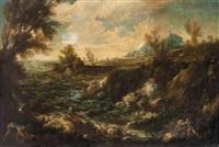 paesaggio con figure by antonio francesco peruzzini
