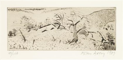 japanese landscape by milton avery