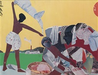 ritual bayou (set of 6 editioned) (from romare bearden: the prevalence of ritual) by romare bearden
