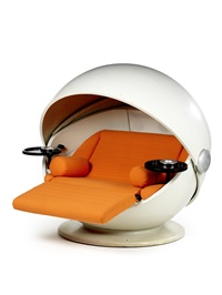 sunball easy chair by ferdinand g. ris & herbert selldorf