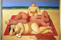 the beach by fernando botero