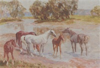 horses by the river by viktor ivanov