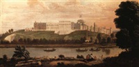a view of windsor castle from across the thames, with bathers in the fore by hendrick danckerts