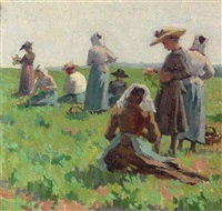 working in the fields, brittany by elmer boyd smith
