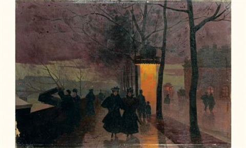 le soir quai conti by léon parent