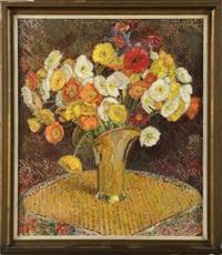 vase de fleurs sur un guéridon by léon de smet