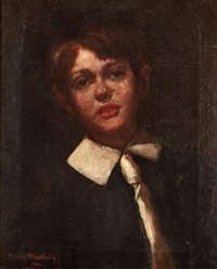 portrait of a boy by casimir (count) markievicz