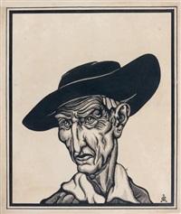 homme au chapeau by svetoslav nikolaevich roerich