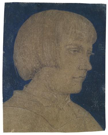 porträt eines jungen mannes im profil by ambrosius holbein