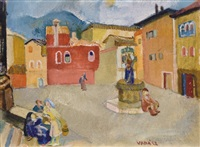 main-square of a small-town by endre vadász
