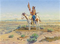 indian on horseback by olaf c. seltzer