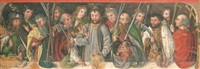 christ with the apostles (predella) by german school-swabian (15)