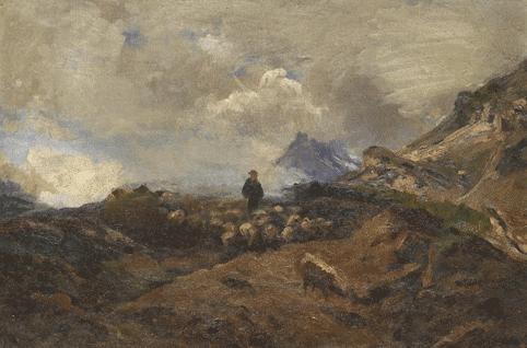 alpine landschaft mit schafherde by franz marc