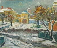 winter in old bucuresti by marius bunescu
