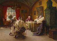 schreibstube im kloster by richard linderum