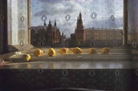 ripening pears on windowsill, moscow by sam abell