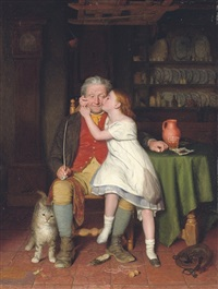 kissing grandpa by edward thompson davis