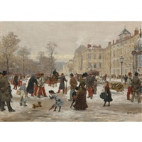 a winter's day by léon joseph voirin