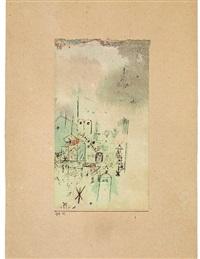 skizze einer heiligen stadt by paul klee