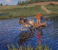 crossing the river by nikolai petrovich bogdanov-bel'sky