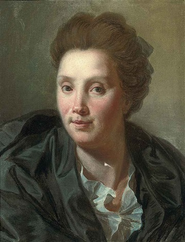 portrait de louise rivalz épouse du peintre by antoine rivalz
