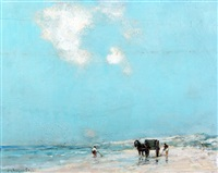 pescadores en la playa by jacques witjens