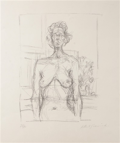 nude with flowers nu aux fleurs by alberto giacometti