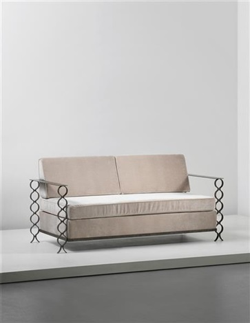 unique ruban sofa comissioned for a private apartment france by jean royère