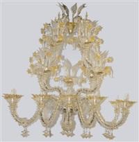 glass chandelier by ferro murano